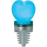 Párty špunt s LED osvětlením TiP Party Cork Heart, 3854, červená/modrá