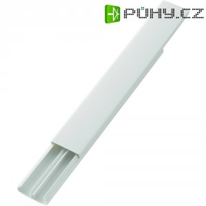 Elektroinstalační lišta, 30x11,2 mm, 2 m, 2 kabely, bílá