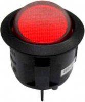 Kolébkový spínač SCI R13-244B-02 B/R 220 V/AC, 2x vyp/zap, 250 V/AC, černá/červená