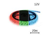 LED pásek 12V 5050 60LED/m IP65 max. 12W/m RGB 20 m zalitý