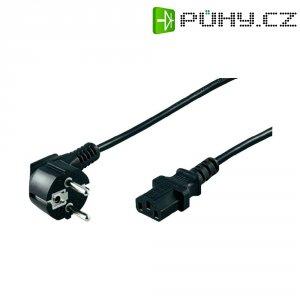 Síťový kabel s IEC zásuvkou, 2 m, černá