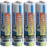 Akumulátor Conrad energy, NiMH , AAA, 900 mAh, 4 ks