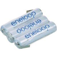 Akupack s pájecími kontakty Sanyo eneloop AAA, 3,6 V, 800 mAh