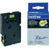 Páska do štítkovače Brother TC-691, 9 mm, TC, 7,7 m, černá/žlutá