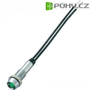 Neonová signálka Sedeco, Ø 7,2 mm, polykarbonát, zelená