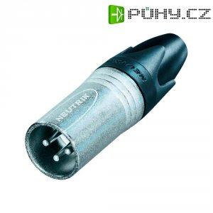 XLR kabelová zástrčka Neutrik NC 3 MXX, rovná, 3pól., 3,5 - 8 mm, stříbrná