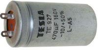 470u/160V TE927, elektrolyt.kondenzátor radiální