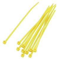 Stahovací pásky KSS PBR-100-4YW, 100 x 2,2 mm, 100 ks, žlutá