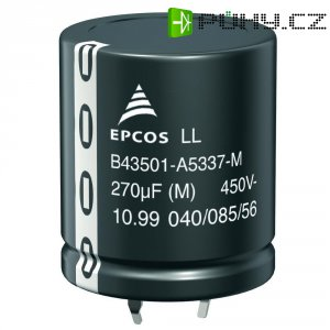 Snap In elektrolytický kondenzátor Epcos B43501-A5476-M, 47 µF, 450 V, 20 %, 25 x 22 mm