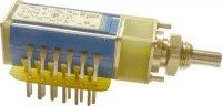 Přepínač otočný TS121 1314/03, 3 polohy, 1paketa, hřídel 3x12,5mm