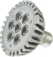 Žárovka LED E27 PAR30-7x1W,bílá,230V, DOPRODEJ