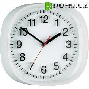 Analogové nástěnné quarz 3D hodiny, 22,4 x 22,4 cm, bílá