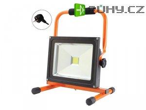 LED venkovní reflektor, 30W, 2100lm, přívodní kabel 1,2m, AC 230V, stojan