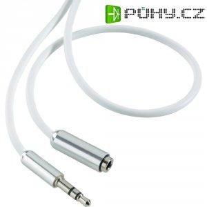 Prodlužovací kabel SpeaKa, jack zástr. 3.5 mm/jack zás. 3.5 mm, bílý, 1 m