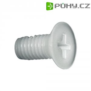 Zápustný šroub TOOLCRAFT 839971, DIN 965, M4, 25 mm, plast, polyamid, 10 ks