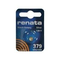 Knoflíková baterie na bázi oxidu stříbra Renata SR63, velikost 379, 16 mAh, 1,55 V