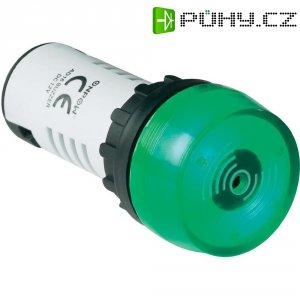 Sirénka / kontrolka, 80 dB 12 V/DC, 22 mm, zelená