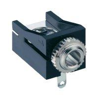 Jack konektor 3,5 mm mono Lumberg 1503 12, zásuvka vestavná horizontální, 2pól., černá