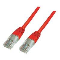 Patch kabel CAT 6 U/UTP RJ 45, vidlice ⇔ vidlice, 0,5 m, červený