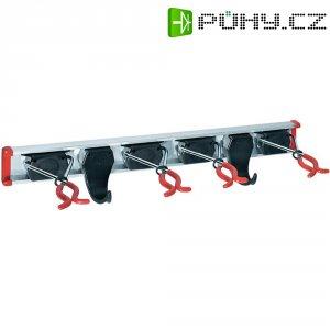 Lišta pro nářadí 4 držáky + 2 háčky Bruns 60457, 0.5 m