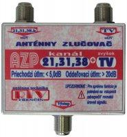 Anténní slučovač AZP21,31,38+TV F-F