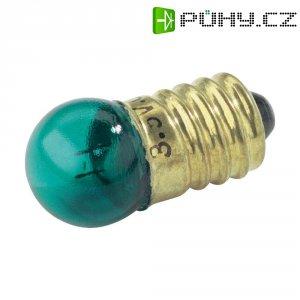 Kulatá žárovka Barthelme, 3,5 V, 0,7 W, 200 mA, E10, zelená