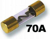 Pojistka auto Glass 70A pozlacená