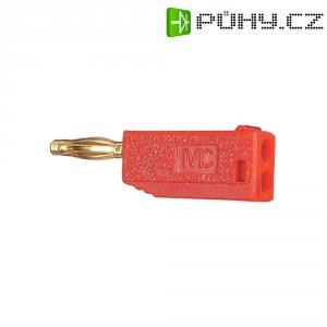 Lamelový konektor Ø 2 mm MultiContact 22.2615-22, zástrčka rovná, červená