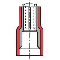 Faston zásuvka Vogt Verbindungstechnik 389805 2.8 mm x 0.5 mm, 180 °, částečná izolace, žlutá, 1 ks