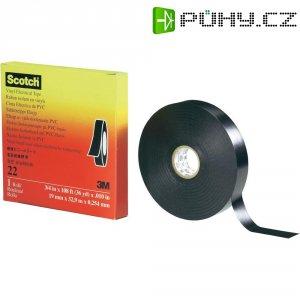 Izolační páska 3M, 80-0120-1703-6, SCOTCH 22 (12 mm x 33 m), černá