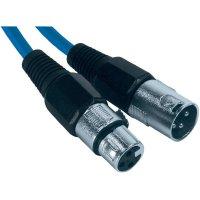 XLR kabel, XLR(F)/XLR(M), 4 m, modrá