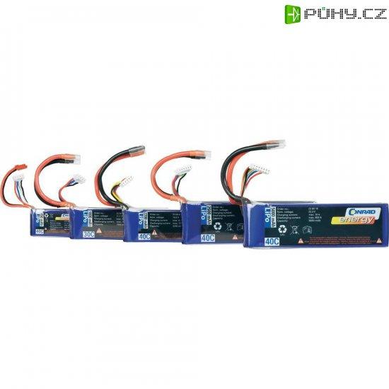 Akupack Li-Pol (modelářství) Conrad energy, 7.4 V, 800 mAh, 40 C, otevřené kabelové koncovky - Kliknutím na obrázek zavřete