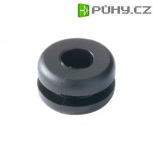 Průchodka HellermannTyton HV1101-PVC-BK-D1, 633-01010, 10,0 x 1,6 mm, černá