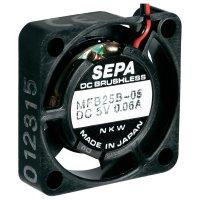 Ventilátor Sepa MFB25B12, 25 x 25 x 6,5 mm, 12 V/DC