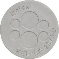 Kabelová průchodková lišta Icotek KEL-DP 25|6 (43531), IP65, Ø 32 mm, šedá