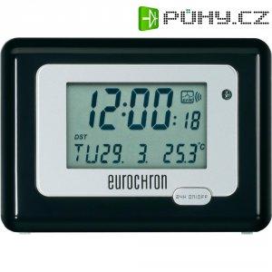 DCF budík Eurochron EFW 100 Meteotime II, HK 212, 117 x 84 x 45 mm, stříbrnočerná