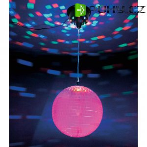 LED disco zrcadlová koule s motorkem, MA-9, 20cm
