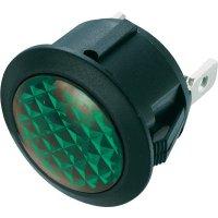 Neonová signálka SCI, zelená, kulatá