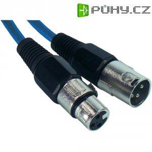 XLR kabel, XLR(F)/XLR(M), 5 m, modrá