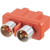 Konektor pro vysoký odběr Modelcraft, zásuvka, dvojkontakt, červená