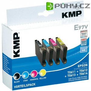 Cartridge KMP E97V, 1603,0005, černá/cyan/magenta/žlutá