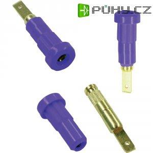Laboratorní konektor Ø 2 mm MultiContact 23.1011-26, zásuvka vestavná vertikální, fialová