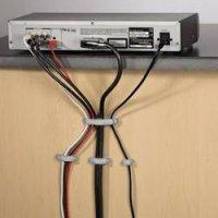 Montážní úchytky pro kabely HAMA EASY CLIP, stříbrné