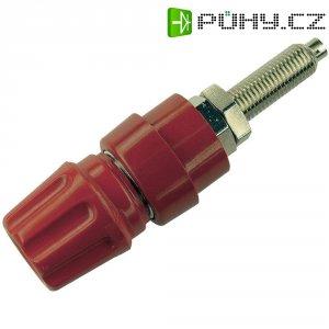 Pólová svorka SKS Hirschmann PKNI 20 B (930144101), (Ø x d) 17 x 63,5 mm, červená