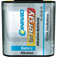 Plochá baterie Conrad Energy 4,5 V, alkalická/manganová