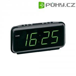 Digitální LED budík, 197/7, 230 V, 21 x 10,5 cm, černá/zelená