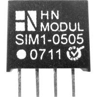 DC/DC měnič HN Power SIM1-1512-SIL4, vstup 15 V, výstup 12 V, 83 mA, 1 W