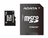 Karta paměťová ADATA Micro SDHC 16GB Class 4 + adaptér