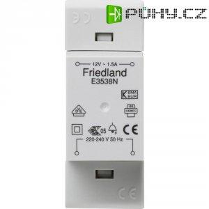 Zvonkový transformátor na lištu Friedland E3538N, 12 V/AC, bílá