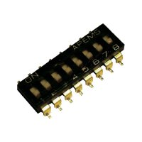 DIP spínač APEM IKL0600000, 500 V/DC, rastr 2,54 mm, standardní, 6pól.